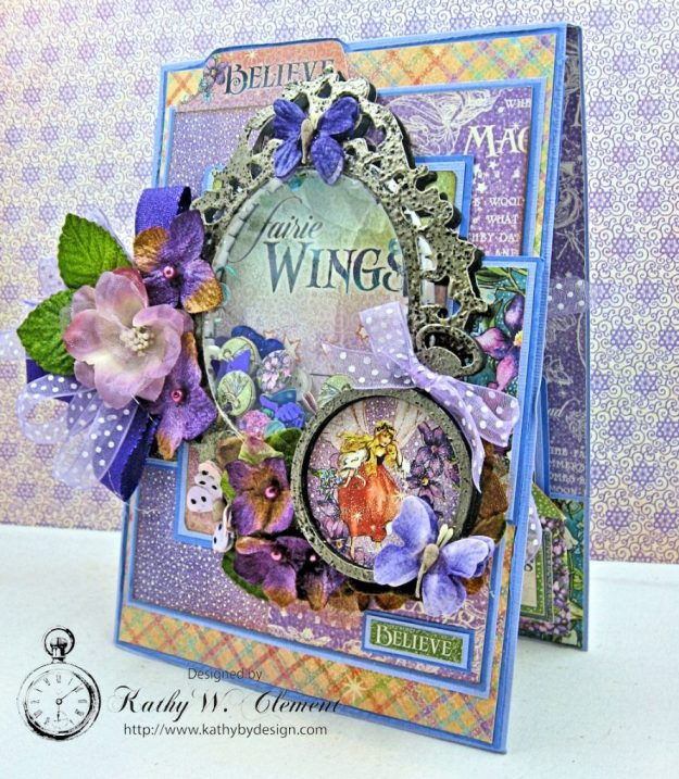 Graphic 45 Fairie Wings Shaker Card Folio Fairie Dust by Kathy Clement Product by Graphic 45 Photo 2