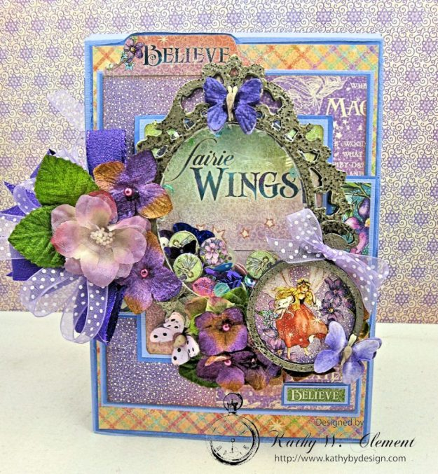 Graphic 45 Fairie Wings Shaker Card Folio Fairie Dust by Kathy Clement Product by Graphic 45 Photo 3