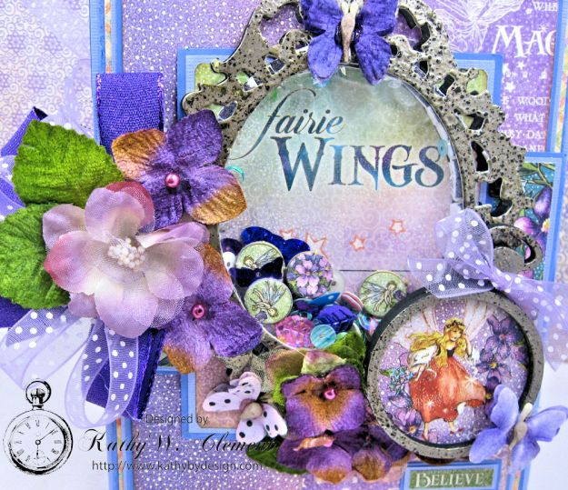 Graphic 45 Fairie Wings Shaker Card Folio Fairie Dust by Kathy Clement Product by Graphic 45 Photo 4