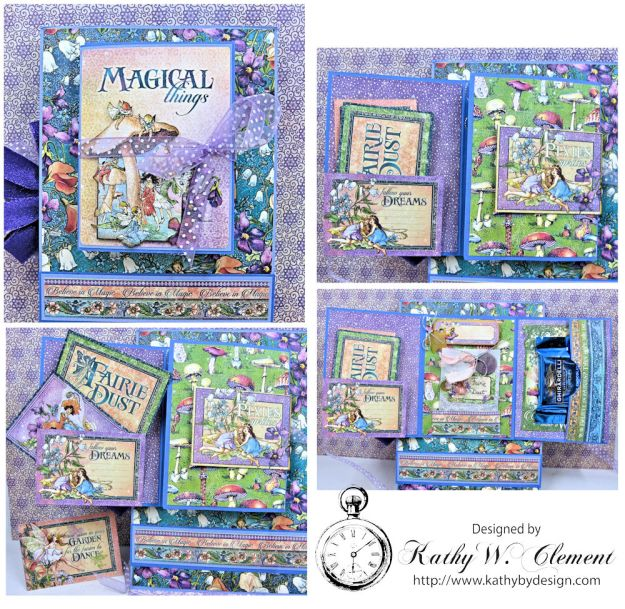 Graphic 45 Fairie Wings Shaker Card Folio Fairie Dust by Kathy Clement Product by Graphic 45 Photo 7