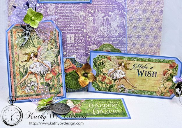 Graphic 45 Fairie Wings Shaker Card Folio Fairie Dust by Kathy Clement Product by Graphic 45 Photo 9