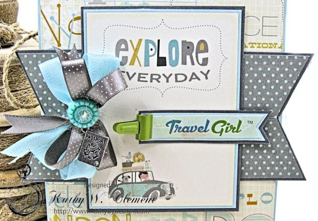 Quick and Easy Travel Girl Birthday Card Travel Girl by Kathy Clement Product by October Afternoon Photo 2