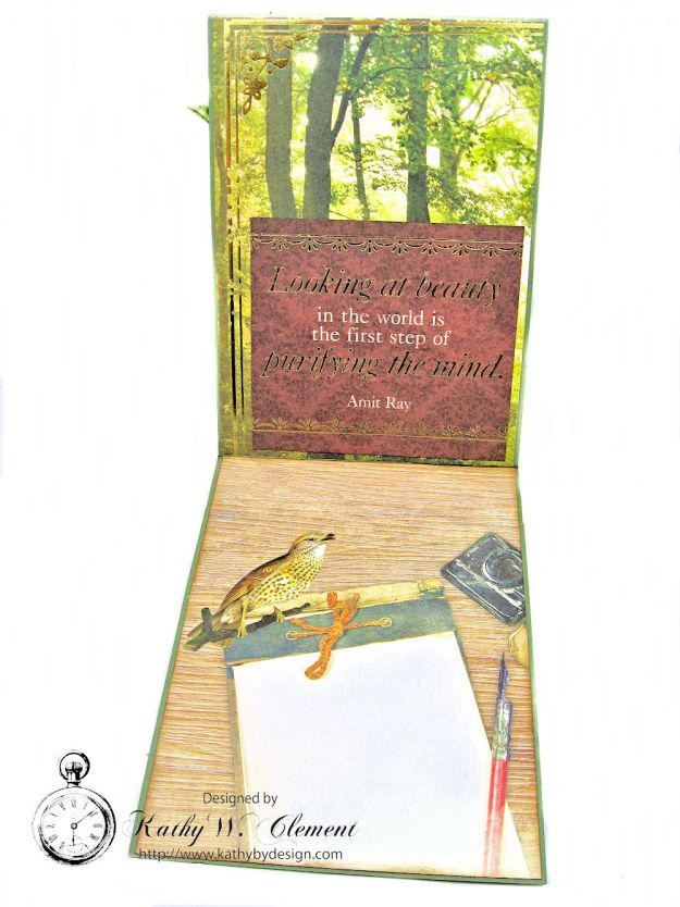 Explore Nature's Majesty Nature Themed Masculine Card with Ribbon by Kathy Clement  for Really Reasonable Ribbon Photo 2