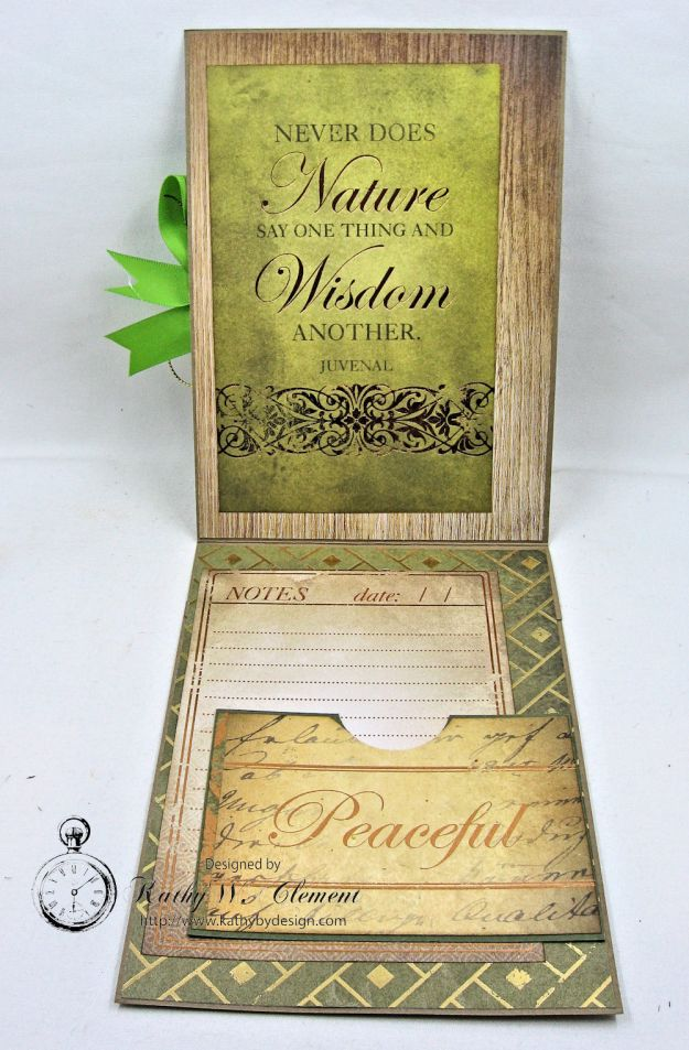 Nature Themed Masculine Card with Ribbon by Kathy Clement for Really Reasonable Ribbon Photo 3