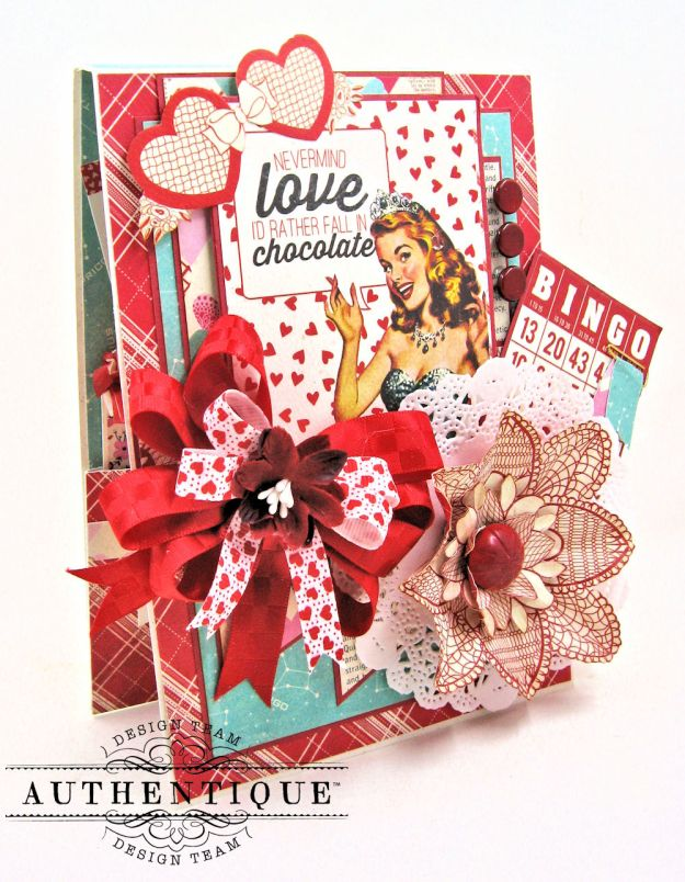 Lovestruck Sassy Valentine Card Folio Lovestruck by Kathy Clement Product by Authentique Photo 2