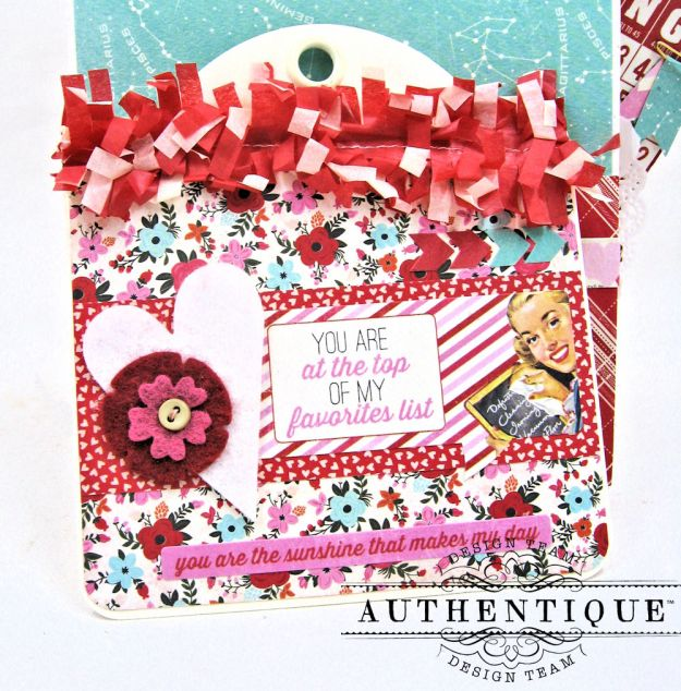 Lovestruck Sassy Valentine Card Folio Lovestruck by Kathy Clement Product by Authentique Photo 8
