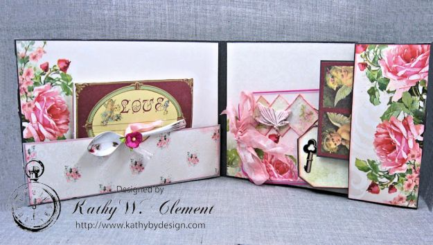 Old World Vintage Style Valentine Folio Heart Painted by Kathy Clement Product by Lemon Craft Photo 5