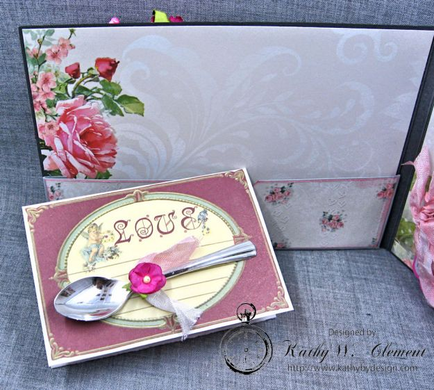 Old World Vintage Style Valentine Folio Heart Painted by Kathy Clement Product by Lemon Craft Photo 6