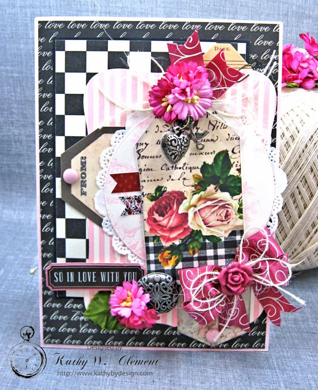 Valentine Gallery Post Pink and Black Shabby Chic Valentine by Kathy Clement Photo 1