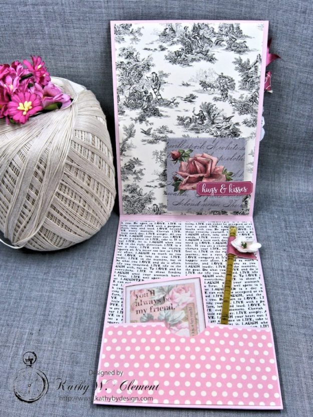 Valentine Gallery Post Pink and Black Shabby Chic Valentine by Kathy Clement Photo 3