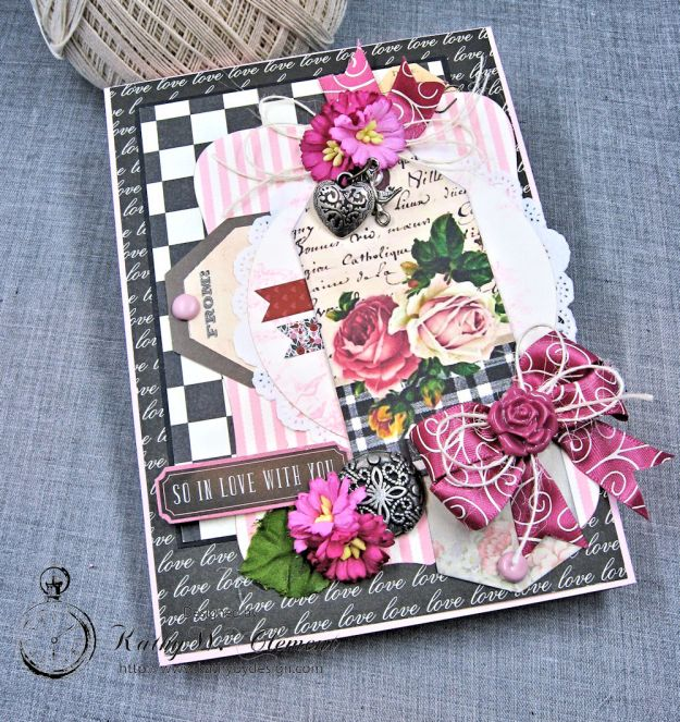 Valentine Gallery Post Pink and Black Shabby Chic Valentine by Kathy Clement Photo 2