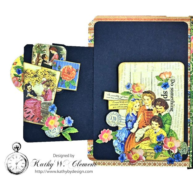 Graphic 45 Little Women Interactive Folio by Kathy Clement for Get in on the Action Challenge at Frilly and Funkie Photo 08
