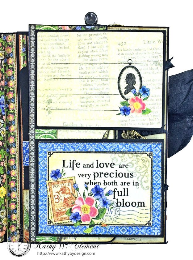Graphic 45 Little Women Interactive Folio by Kathy Clement for Get in on the Action Challenge at Frilly and Funkie Photo 09