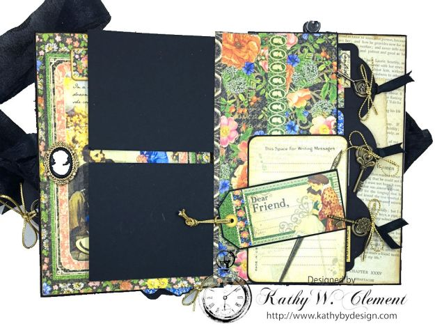 Graphic 45 Little Women Interactive Folio by Kathy Clement for Get in on the Action Challenge at Frilly and Funkie Photo 10