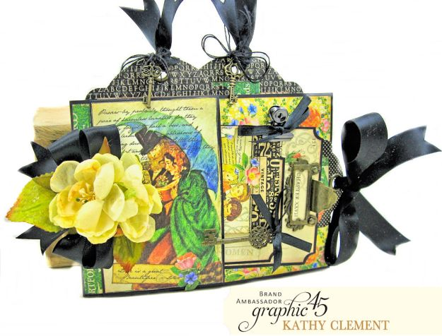 Graphic 45 Something Splendid Trifold Folio Little Women by Kathy Clement Product by Graphic 45 Photo 2