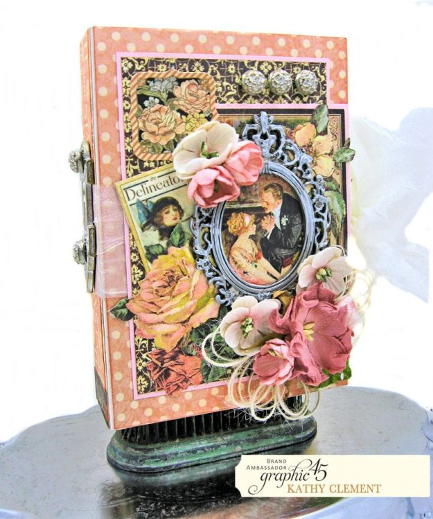 Love Sweet Love Altered Truffle Box Tutorial A Ladies Diary by Kathy Clement Product by Graphic 45 Photo 2