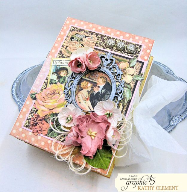 Love Sweet Love Altered Truffle Box Tutorial A Ladies Diary by Kathy Clement Product by Graphic 45 Photo 4