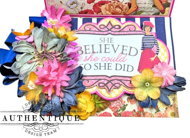 Authentique Dame Easel Cards Tutorial by Kathy Clement Photo 9