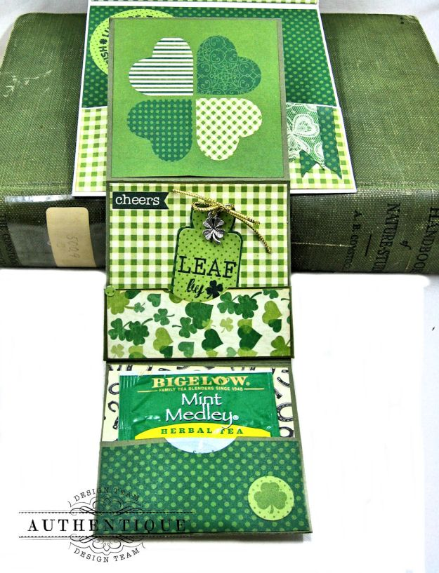 Authentique Shamrock Card Tutorial Shamrock by Kathy Clement Product by Authentique Photo 6