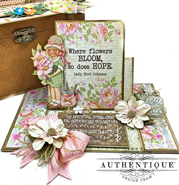 Authentique Jubilee Project Share and Center Step Easel Card Tutorial by Kathy Clement Photo 03