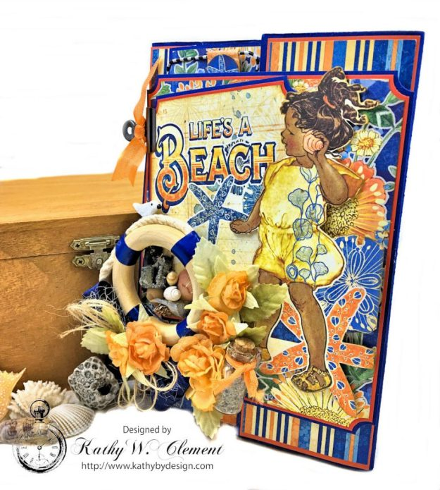 Beach Walk Flap Folio Sun Kissed by Kathy Clement for The Funkie Junkie Boutique Product by Graphic 45 Photo 02