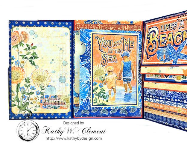 Beach Walk Flap Folio Sun Kissed by Kathy Clement for The Funkie Junkie Boutique Product by Graphic 45 Photo 13