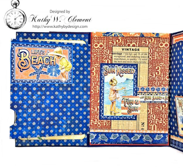 Beach Walk Flap Folio Sun Kissed by Kathy Clement for The Funkie Junkie Boutique Product by Graphic 45 Photo 14