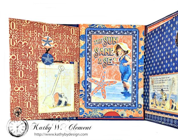 Beach Walk Flap Folio Sun Kissed by Kathy Clement for The Funkie Junkie Boutique Product by Graphic 45 Photo 16
