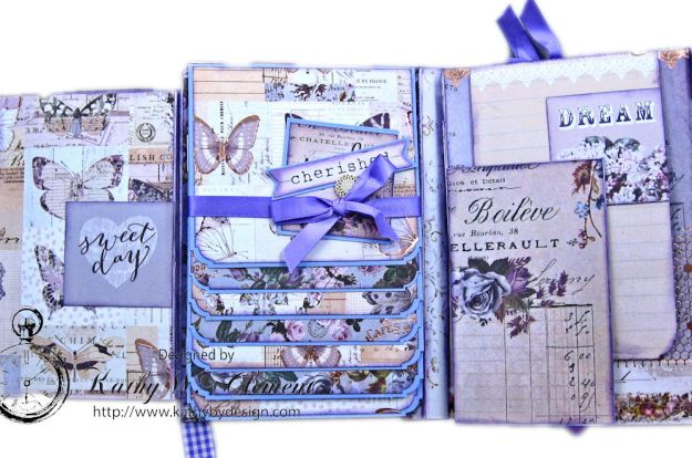 Prima Lavender Blooming Marvelous Flip Folio by Kathy Clement for The Funkie Junkie Boutique Photo 11