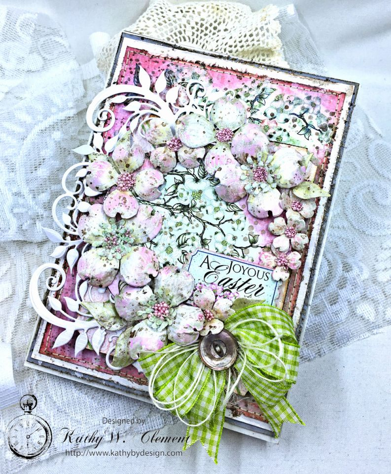 Easter Dogwoods Greeting Card Flowering Dogwood by Kathy Clement Product by Heartfelt Creations Photo 01a