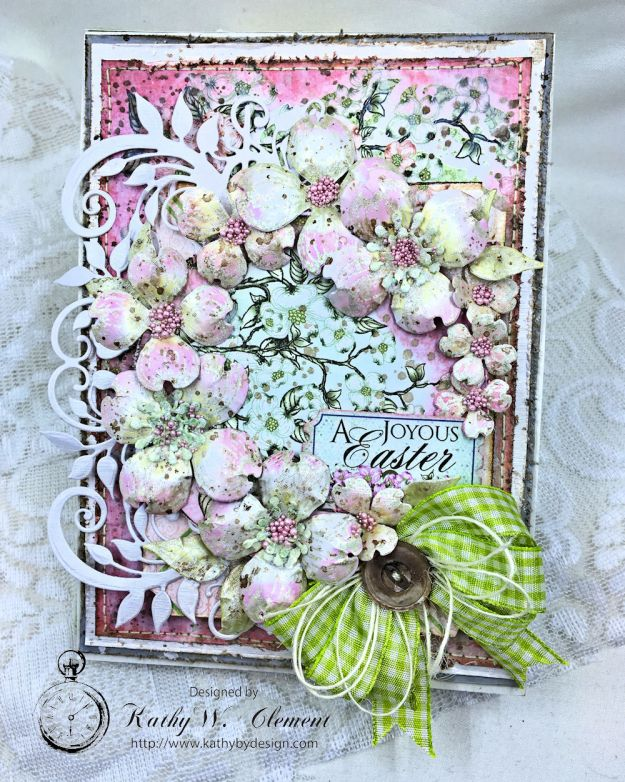Heartfelt Easter Dogwoods Greeting Card Flowering Dogwood by Kathy Clement Product by Heartfelt Creations Photo 03