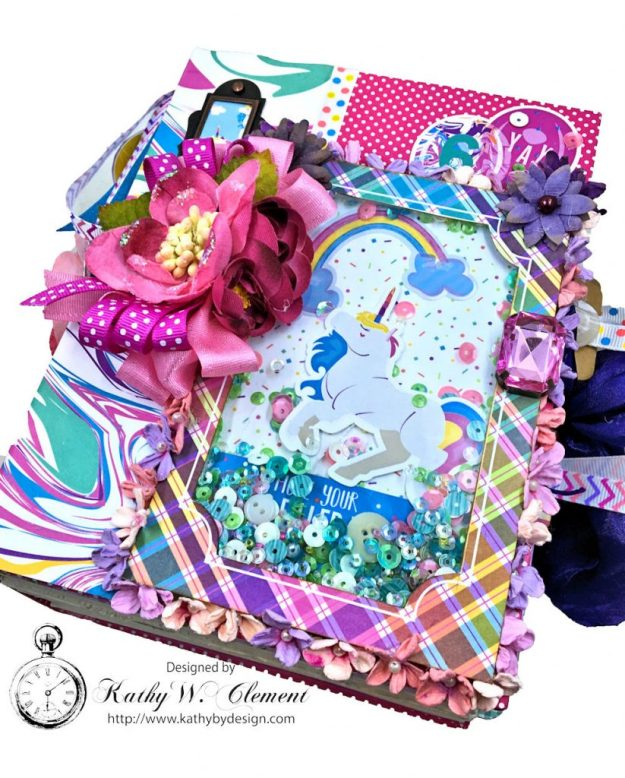 Magical Unicorn Princess Mini Album Cake by Kathy Clement for Really Reasonable Ribbon Product by Photoplay Photo 02