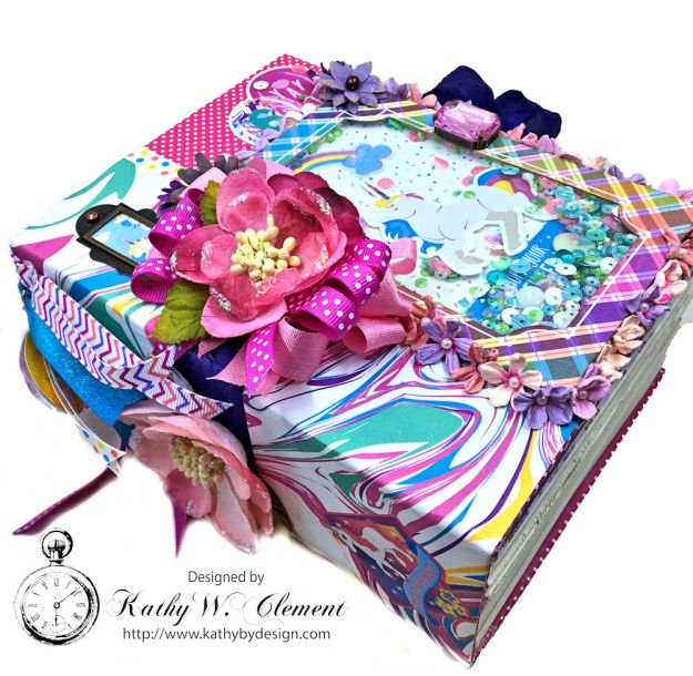 Magical Unicorn Princess Mini Album Cake by Kathy Clement for Really Reasonable Ribbon Product by Photoplay Photo 03