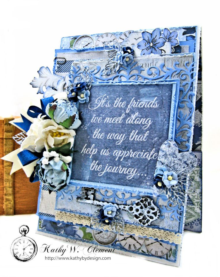 Kaisercraft Wandering Ivy Friendship Card by Kathy Clement Photo 01