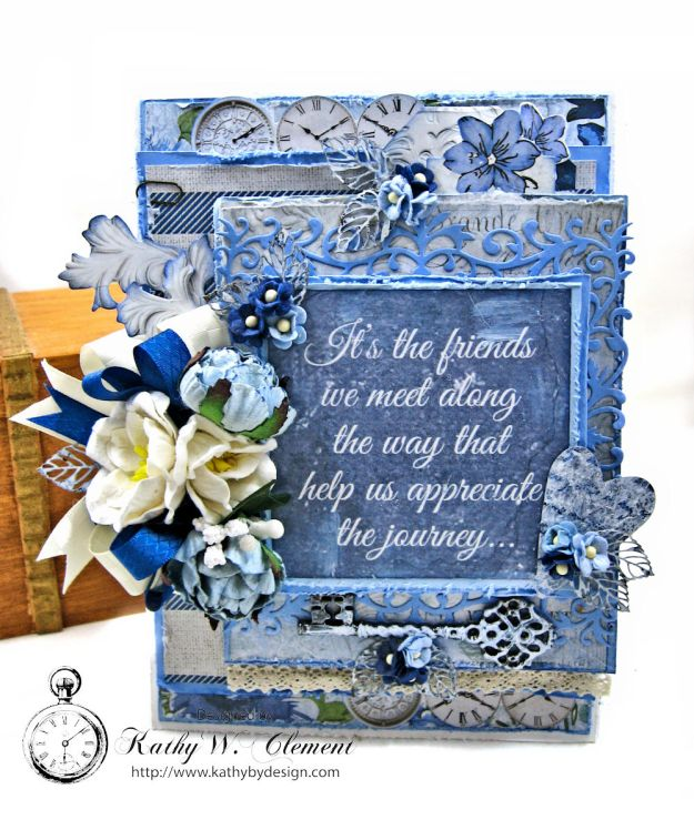 Shabby Chic Friendship Card Wandering Ivy by Kathy Clement Product by Kaisercraft Photo 02