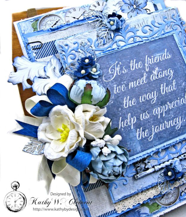 Shabby Chic Friendship Card Wandering Ivy by Kathy Clement Product by Kaisercraft Photo 04