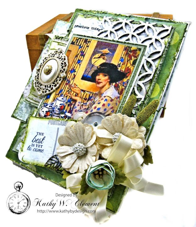 Tea Lover Vintage Style Birthday Card Wandering Ivy by Kathy Clement Product by Kaisercraft Photo 04