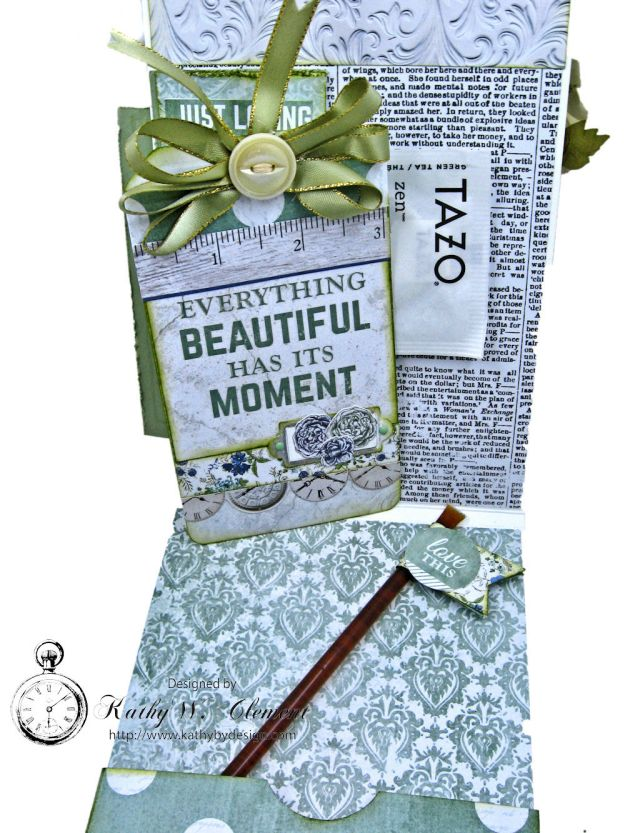 Tea Lover Vintage Style Birthday Card Wandering Ivy by Kathy Clement Product by Kaisercraft Photo 07