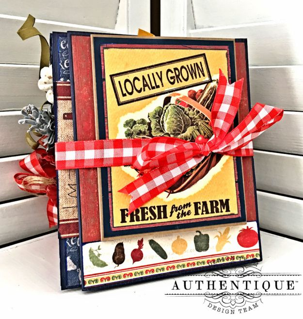 Country Blessings Folio Tutorial Frontier by Kathy Clement Product by Authentique Paper Photo 09