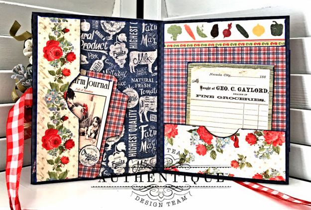 Country Blessings Folio Tutorial Frontier by Kathy Clement Product by Authentique Paper Photo 14