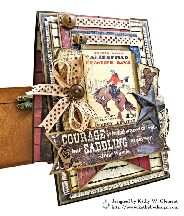 Ride em Cowboy Masculine All Occasion Card by Kathy Clement Photo 02