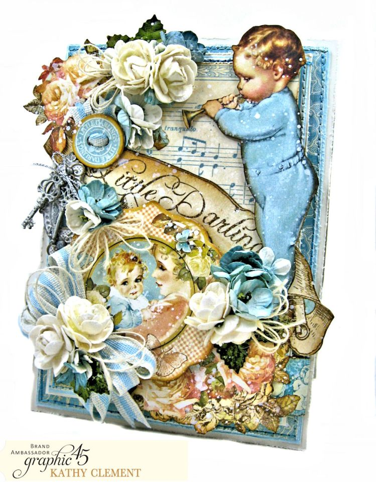 Graphic 45 Little Darlings Little Boy Blue Card Folio Little Darlings by Kathy Clement Product by Graphic 45 Photo 01