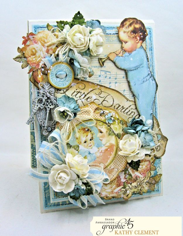 Graphic 45 Little Darlings Little Boy Blue Card Folio Little Darlings by Kathy Clement Product by Graphic 45 Photo 02