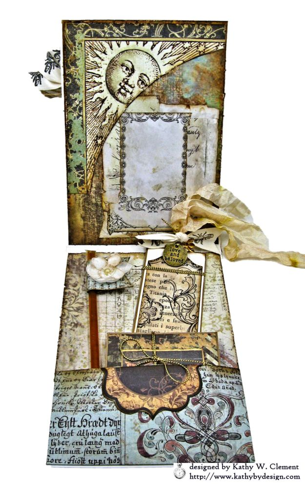 Mixed Media Honeybee All Occasion Shaker Card Alchemy by Kathy Clement Product by Stamperia Photo 07