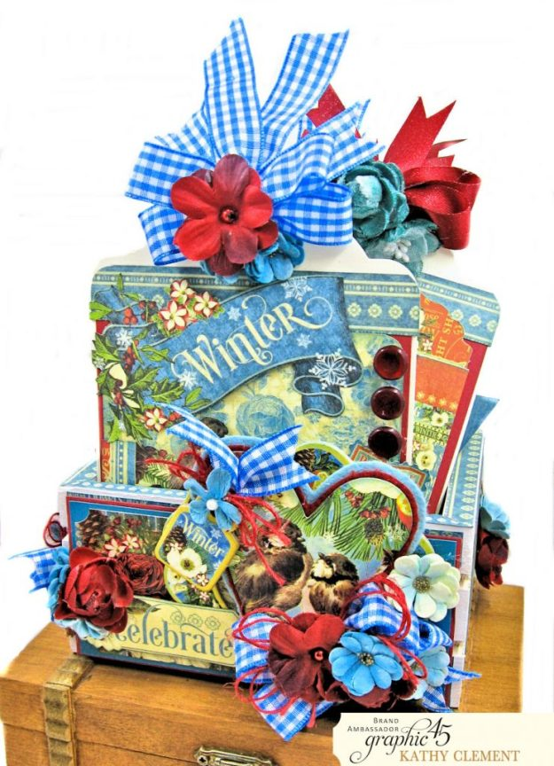 Graphic 45 Seasons Altered Mini Crate and Tags by Kathy Clement Photo 07