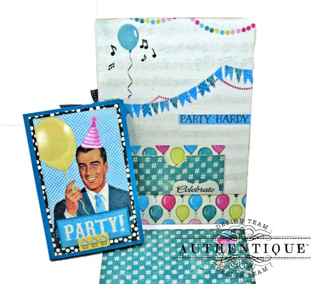 His and Hers Birthday Card Folios Party by Kathy Clement Product by Authentique Paper Photo 14