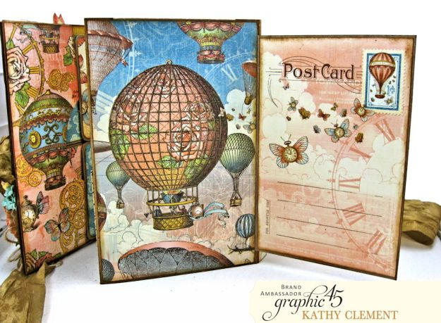 Imagine Castles in the Air Interactive Folio by Kathy Clement for the Funkie Junkie Boutique Product by Graphic 45 Photo 07
