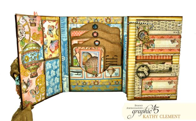 Imagine Castles in the Air Interactive Folio by Kathy Clement for the Funkie Junkie Boutique Product by Graphic 45 Photo 08