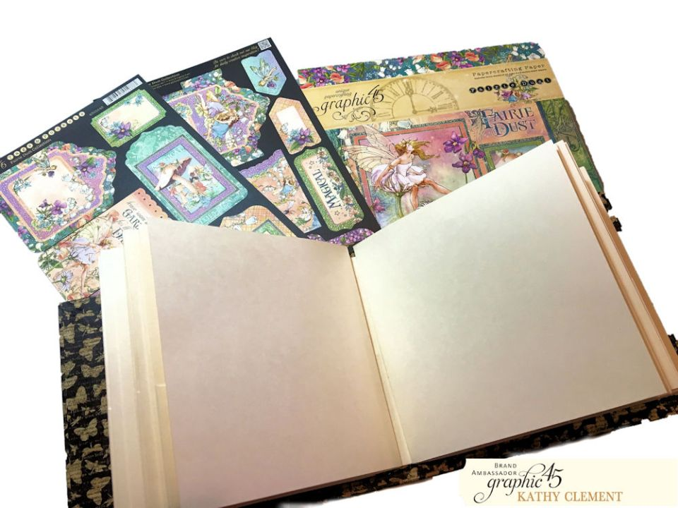 Fairie Dance Mini Album Fairie Dust by Kathy Clement Product by Graphic 45 Photo 01