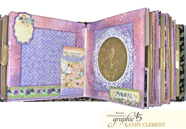Fairie Dust Mini Album Fairie Dust by Kathy Clement Product by Graphic 45 Photo 05